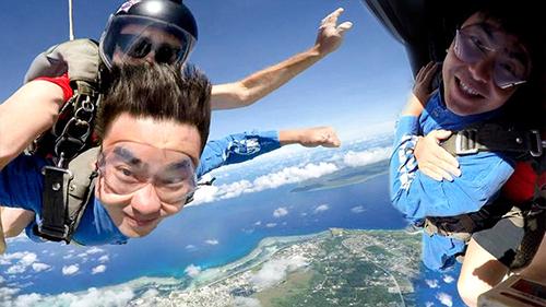 塞班岛体验4200米的高空极限跳伞,感受非一般的速度与激情