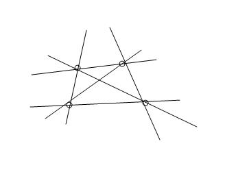 六条直线组成的图图片