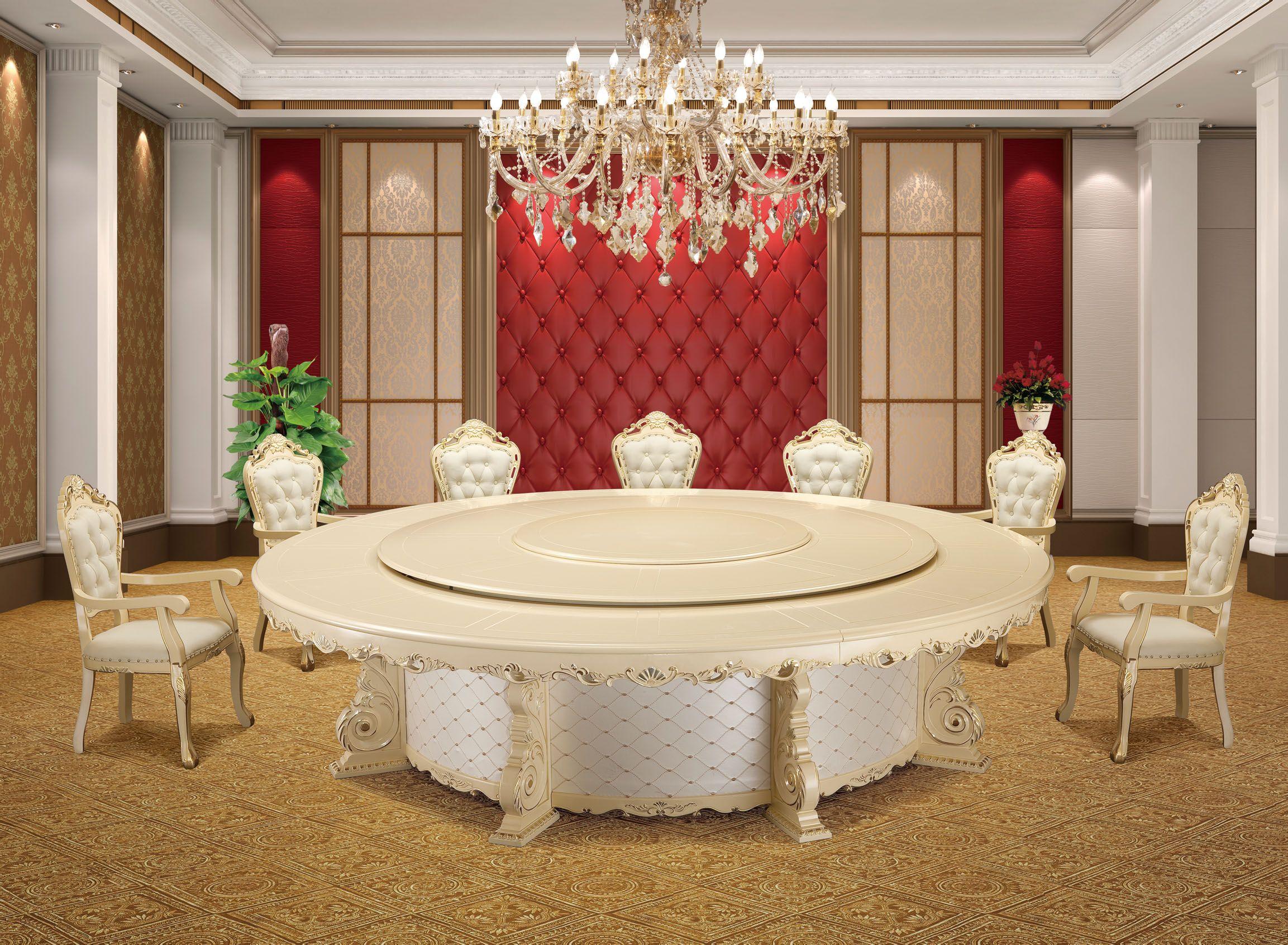 香槟色和白色的餐桌配上图片