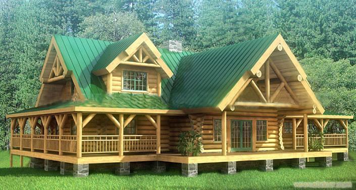 我家在四川雅安,想在农村修下图这样的木房子,简单装修,大概需要多少图片