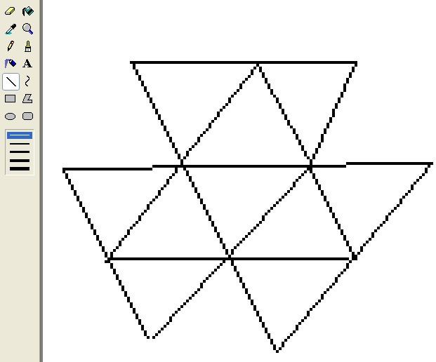 使四个大三角形内的数字和都相等图片