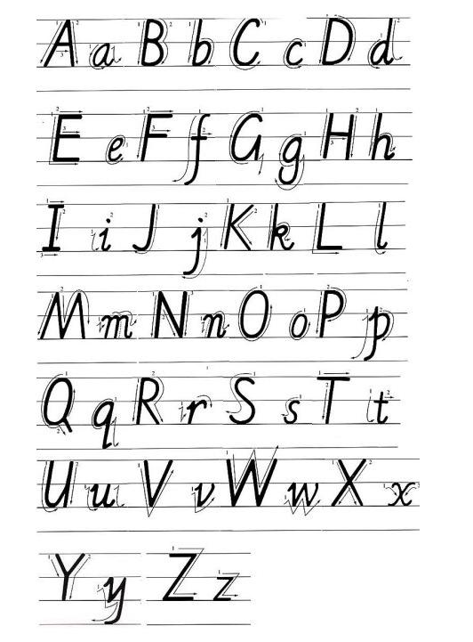 大写二十六字母发音