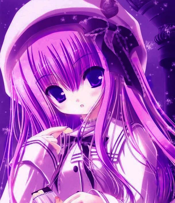 求动漫少女图片 紫发