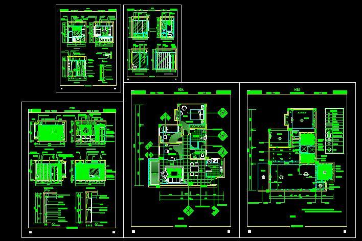 同问 求一张AUTO CAD的120平方米的三室一厅家装平面图