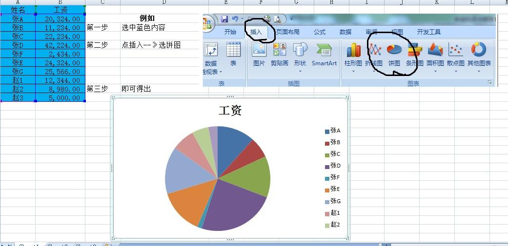 制作扇形统计图的步骤是什么
