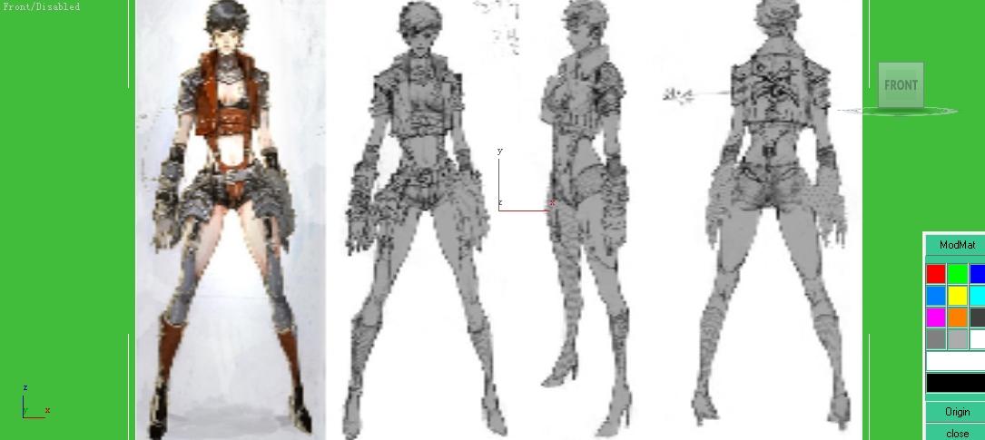 3dmax做人物建模的时候图片