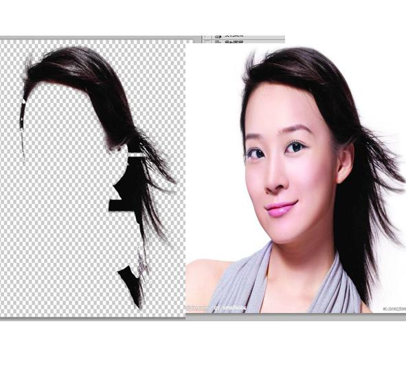 如何用photoshop抠出头发用photoshop进行通道抠头发步骤如下:1)打开图片