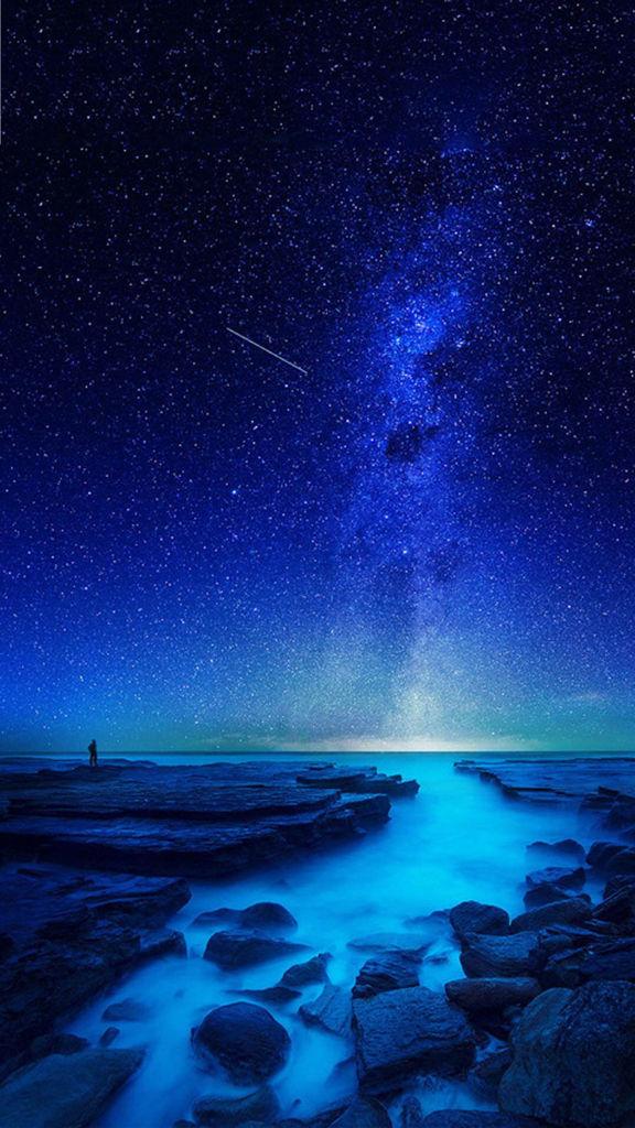 求ios7的蓝色星空壁纸,高清的,谢谢大神们图片