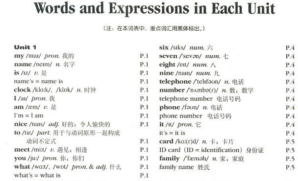 新人教版七年级上册英语单词表图片