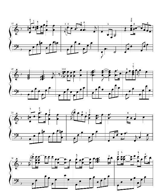 求高手把《你的泪水浸冷了夏天》钢琴谱简谱改成吉他谱,高分悬赏,谢谢图片