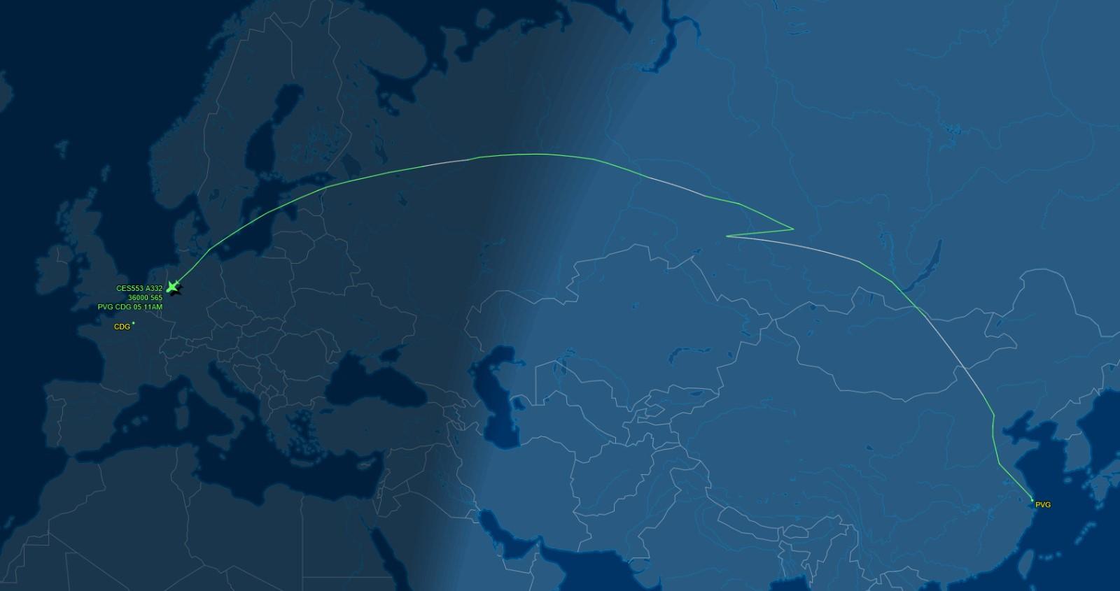 上海到巴黎距离