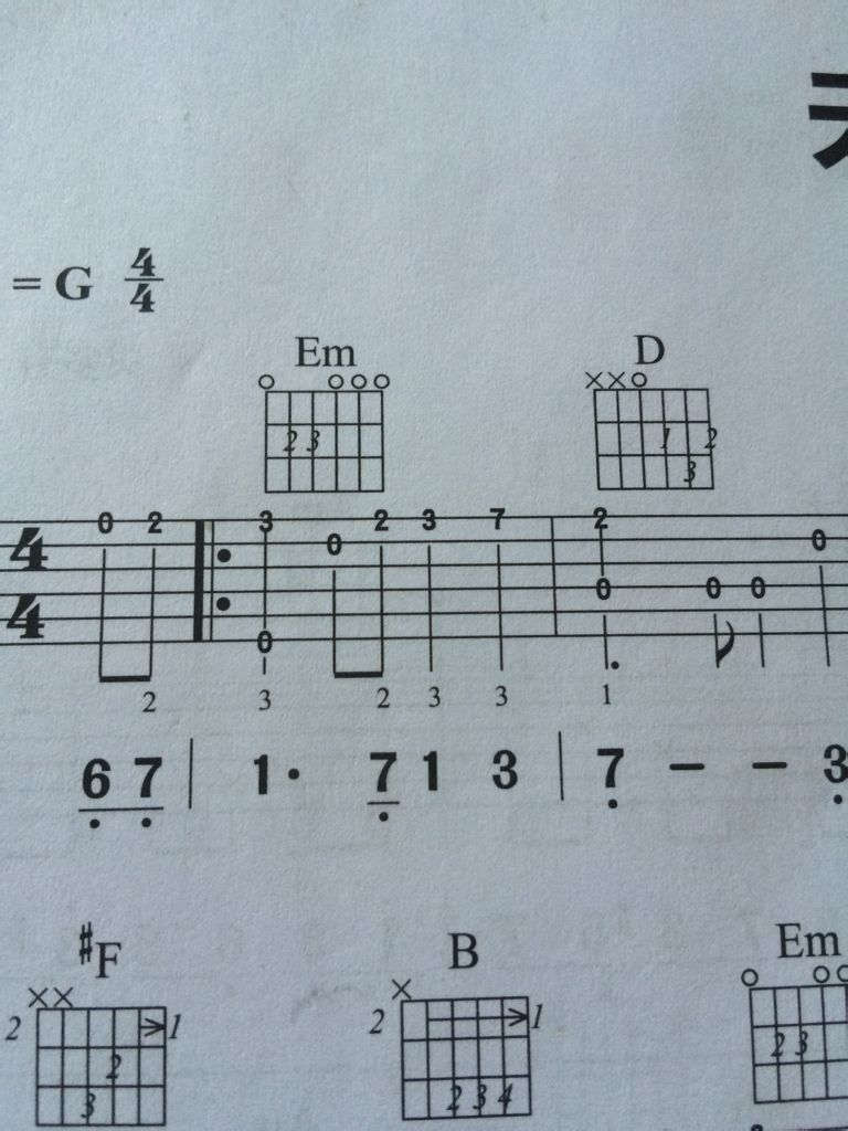 吉他谱中这种u型的是什么东西