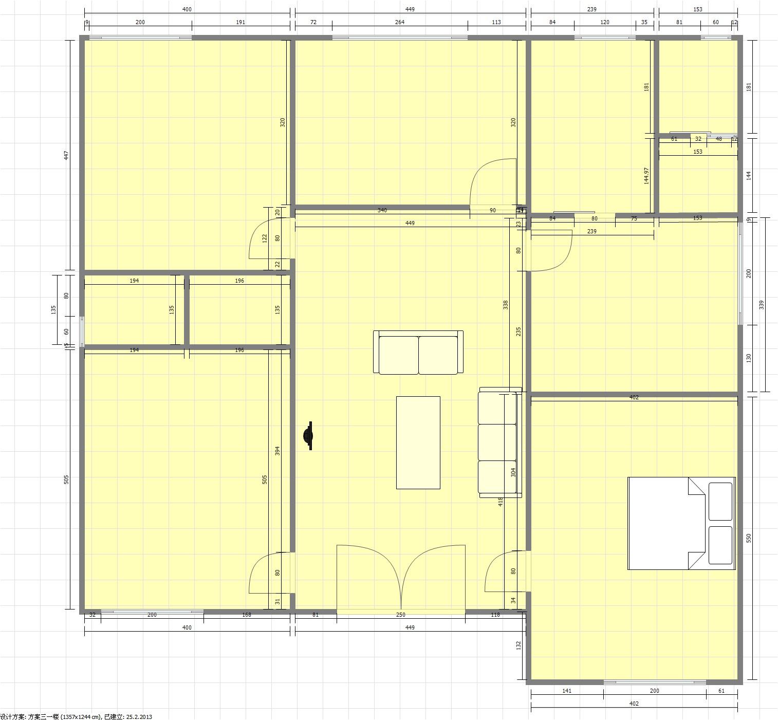 新农村住宅户型平面设计图 农村