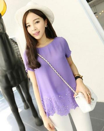 紫色半裙配什么上衣_夏日浅紫色上衣搭配什么颜色裤子好看图片 紫色和什么