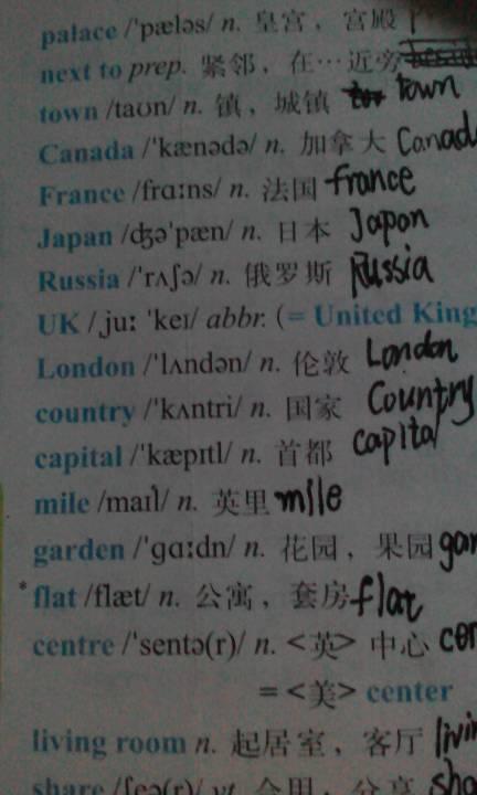 初一下册英语单词表 急求图片