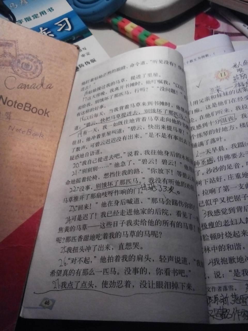六年级上册语文人教版第三单元课文中带拼音字词有哪些?