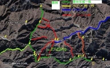 绘制长城旅行地图