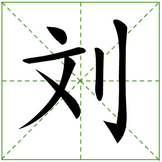 刘字的草书行书写法