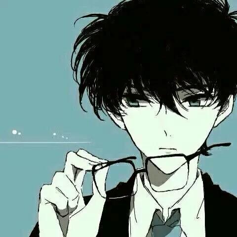 qq空间背景动漫男生 黑白
