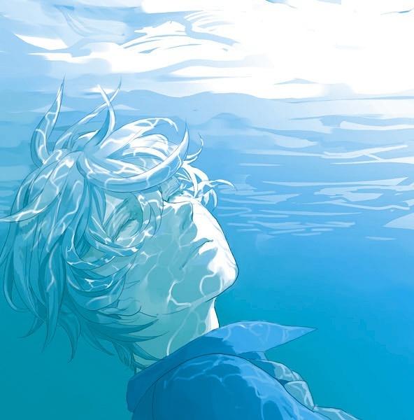 求动漫人物溺水图片