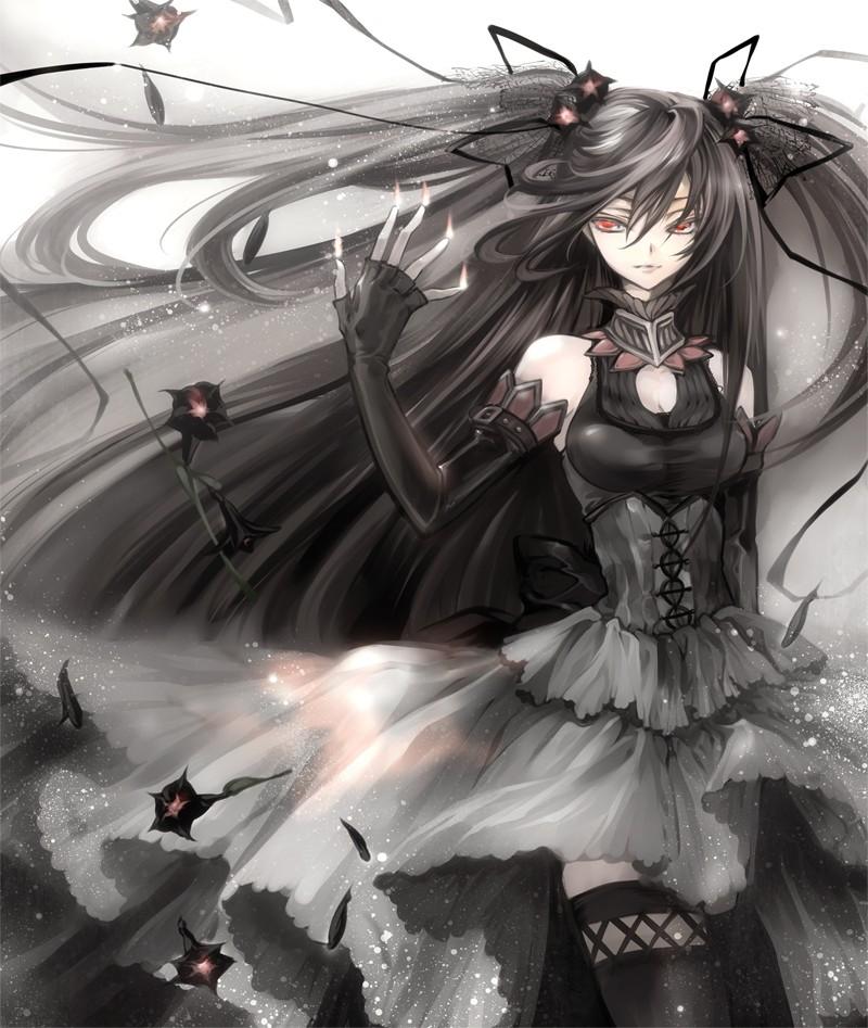 求黑衣动漫美少女图片