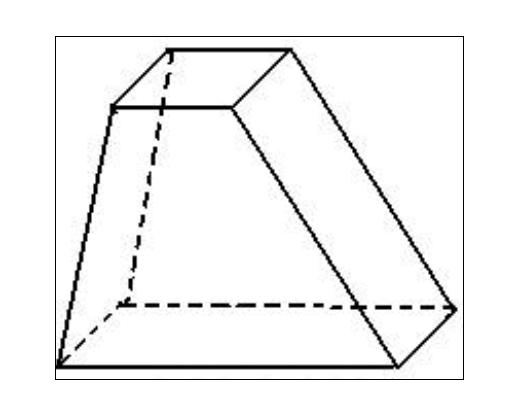 梯形体的侧面积计算公式(不分成四个梯形来算) 规则的图片
