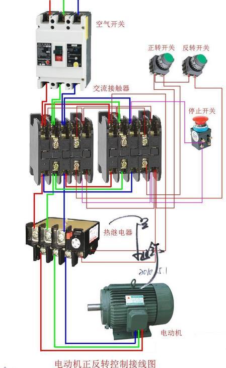 三相电机接线图实物图图片