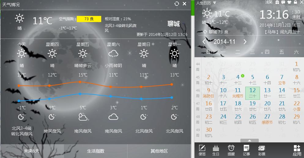 聊城天气预报询什么时间到零度