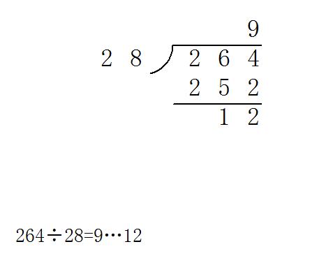 264除以22=几