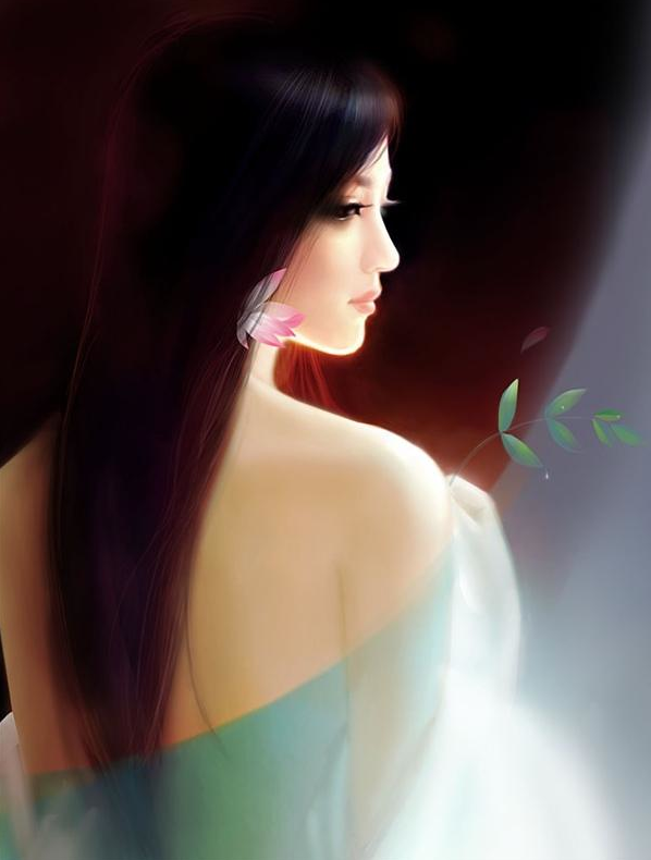 手绘古装妖媚美女手绘妖孽古装美女古装手绘美女手绘 竖