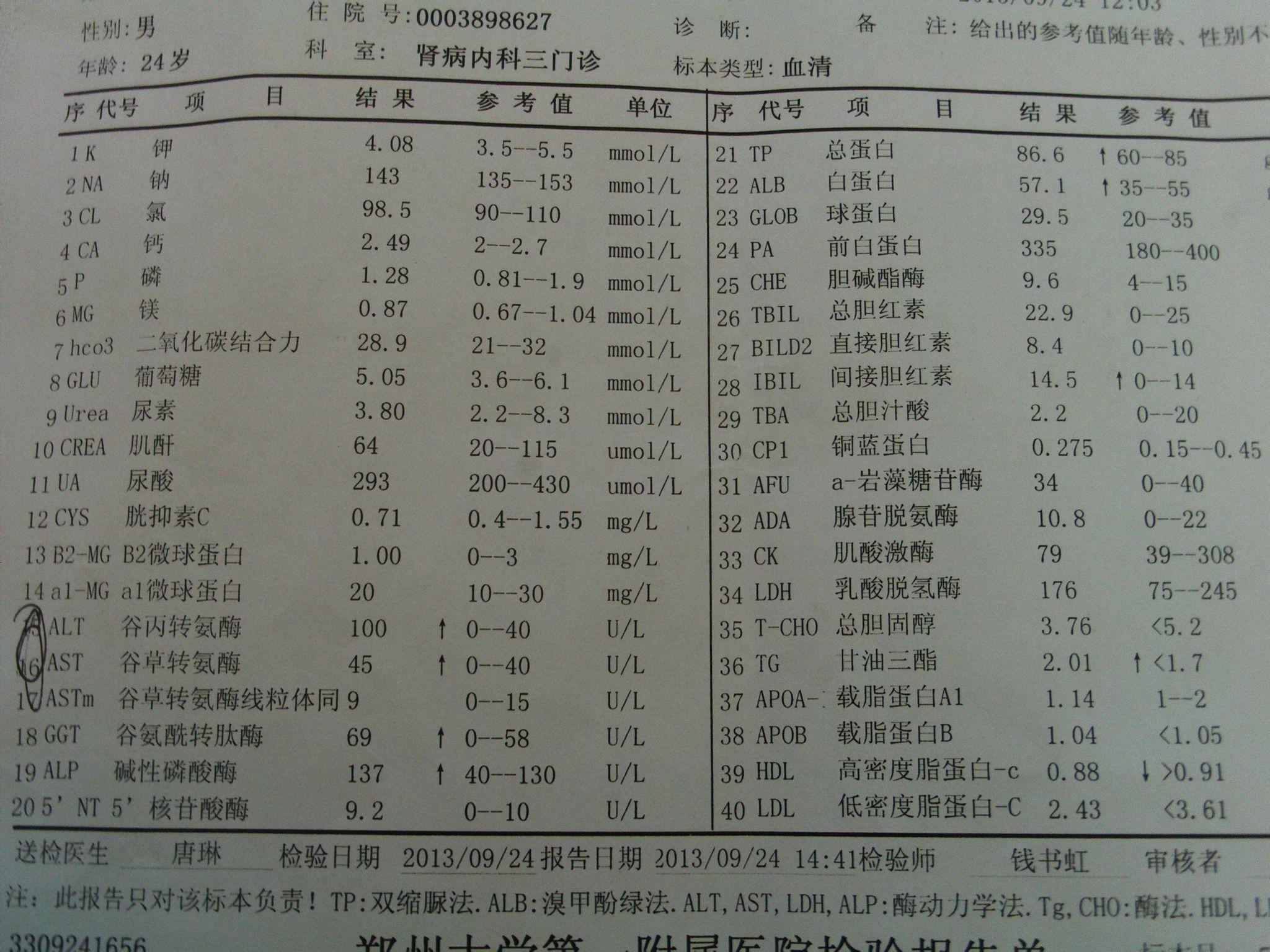 什么是中度脂肪肝_最高一次510,一次405,一次300. 彩超说有中度脂肪肝.