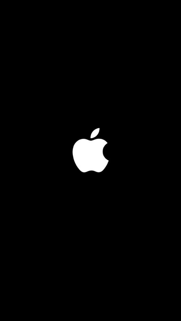 时候突然间屏幕黑了中间有个苹果标志就好像开机还在关机的页面一样图片
