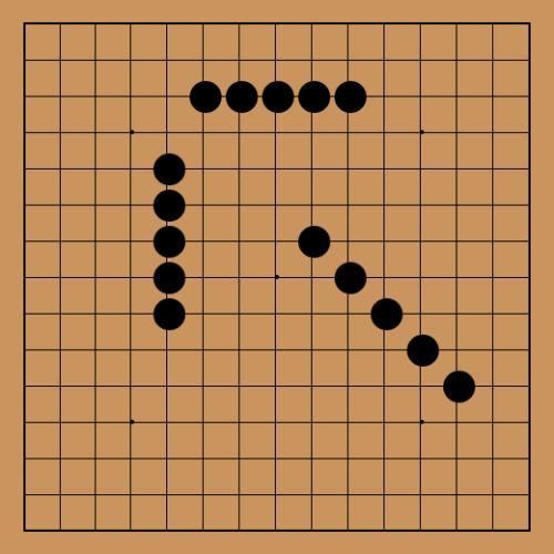 古代五子棋棋盘与围棋棋盘是通用的,汉魏时为十七路(17×17)棋盘,至图片