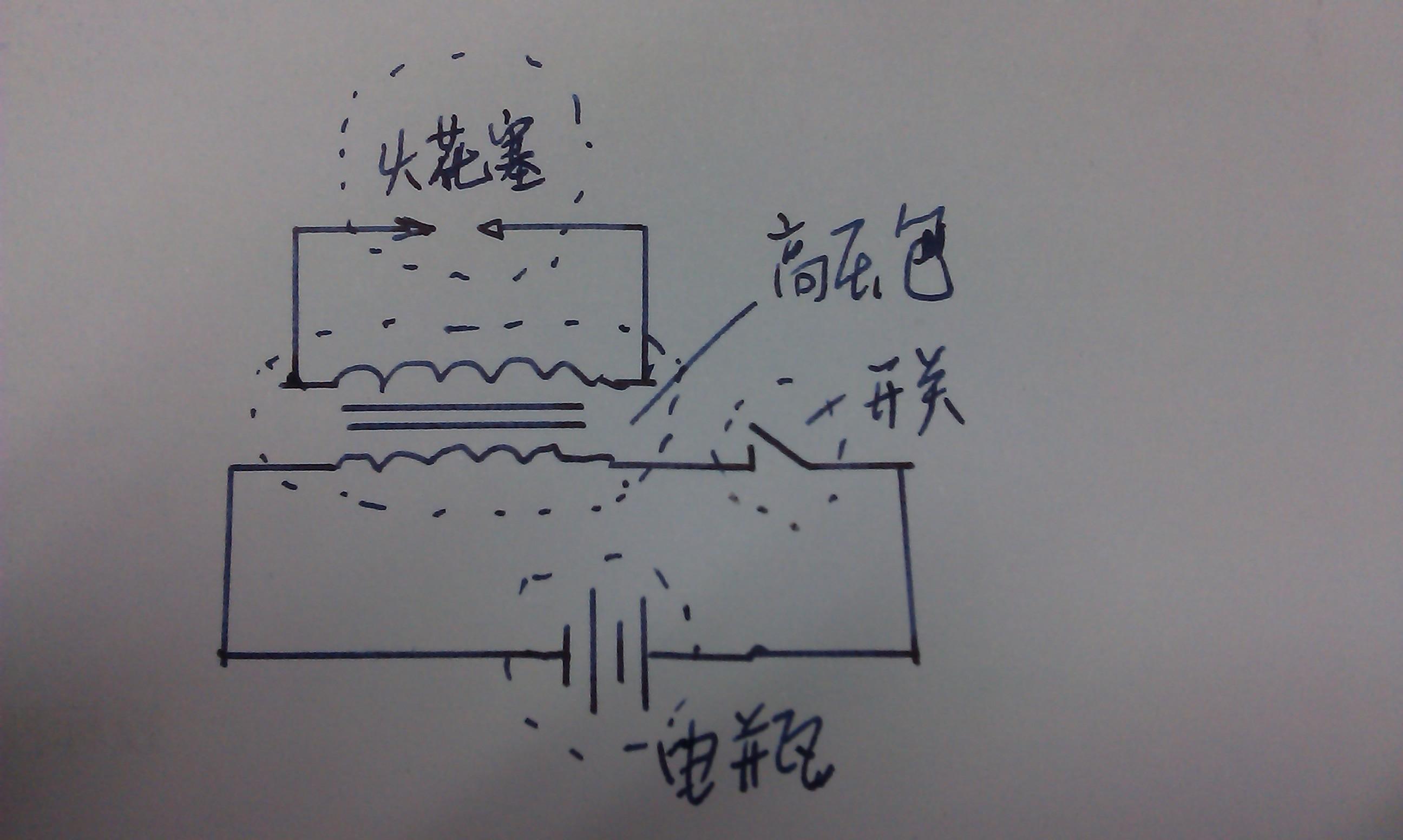 简单画了一下,供你参考. 高压包与火花塞的连接 高压包放电高清图片