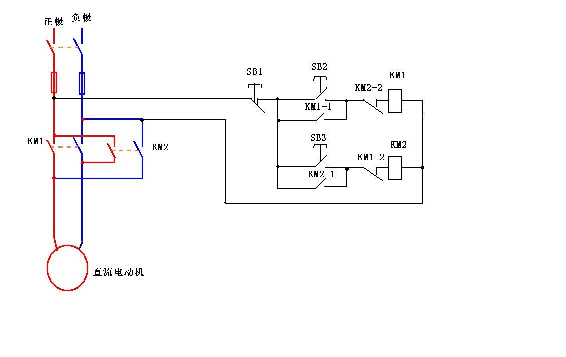 急求 直流电机正反转控制电路图图片