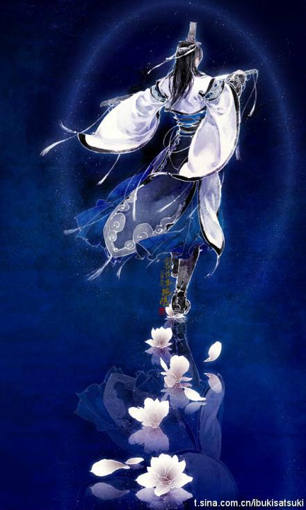 古代男子萧瑟背影的图片图片