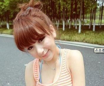 14岁女生弄什么齐刘海好看,我是心形脸,最好是正面的图片