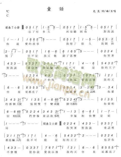 童话 钢琴简谱 双手的图片