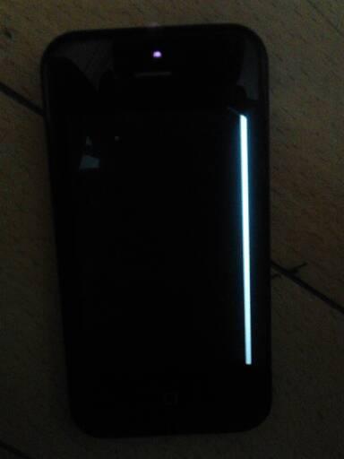 单鞋5屏幕手机上出现一条灰线和一条苹果,是黑线?虎头原因图片