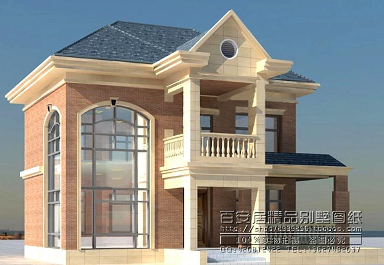 农村二层小别墅设计图纸一楼带大厅-农村二层小别墅设计图片