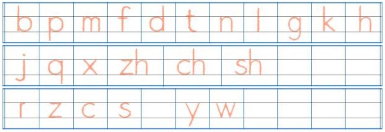 拼音声母正确写法图片