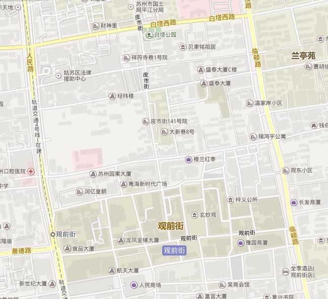 观前街附近景点路线图