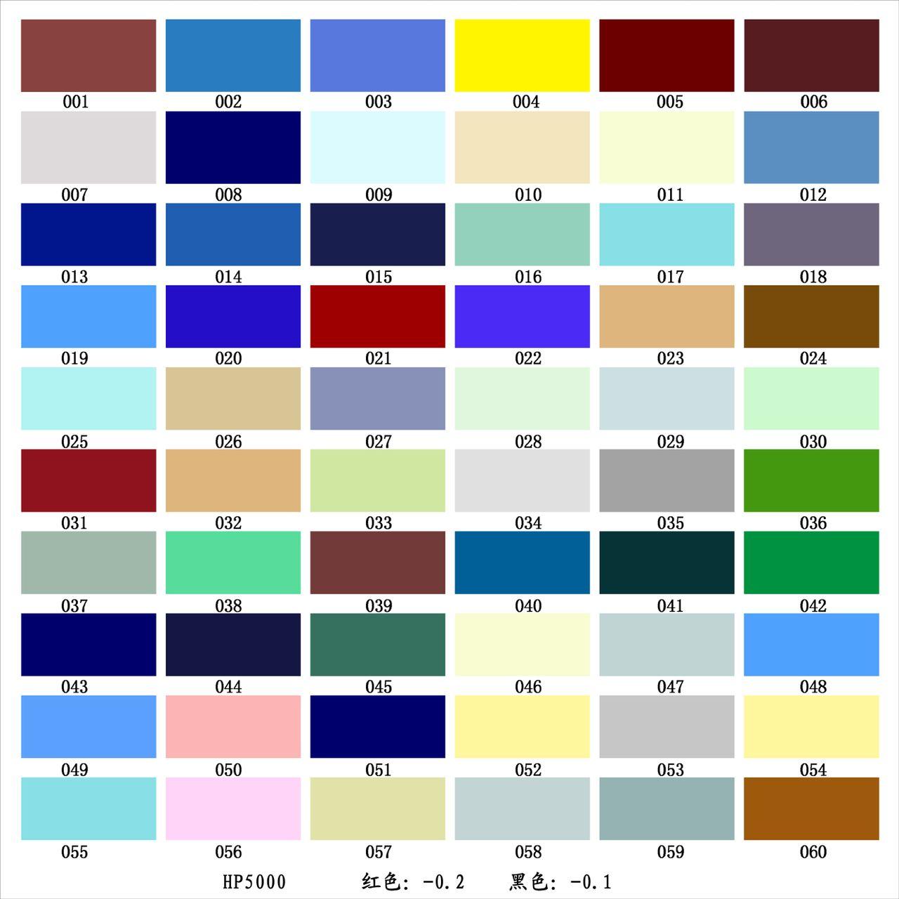谁知道这些颜色的色彩名字吗?