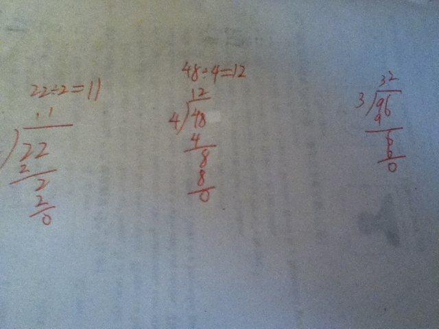 三年级连除竖式怎么写