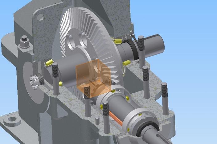 求单级圆锥齿轮减速器装配图和零件图图片