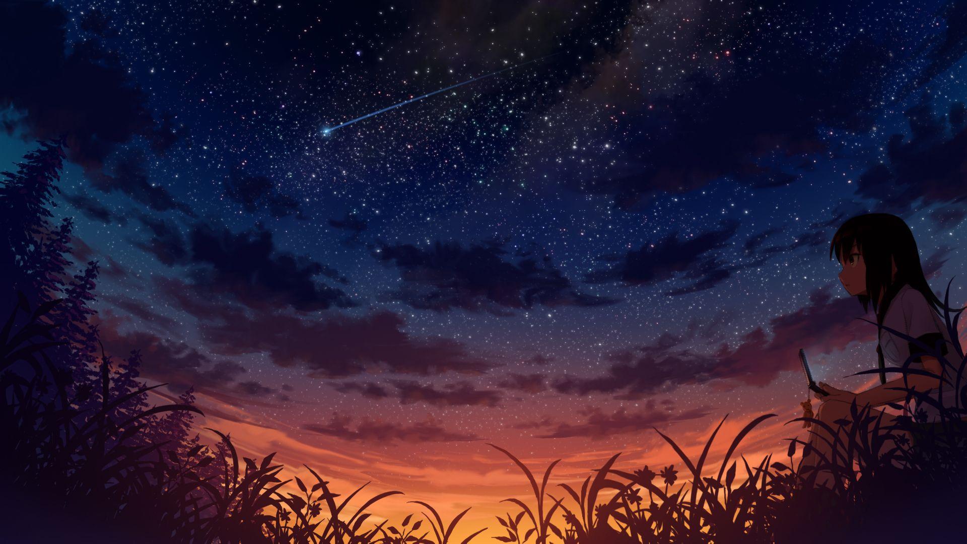 仰望星空的动漫图片_百度知道