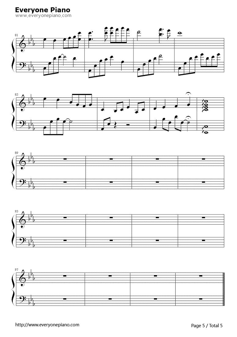 求个夜的钢琴曲5 键盘钢琴图片