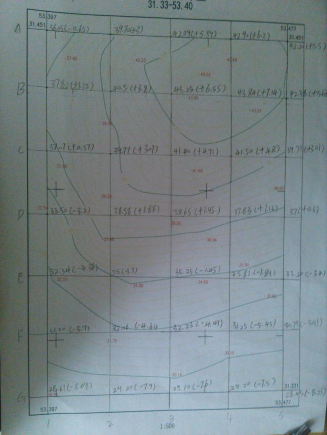 建筑工程v方格土立方方格网计算?图纸窗户处e图片