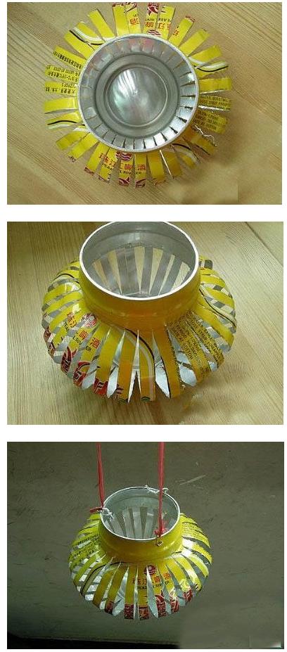 学校比赛废物利用手工制作diy创意灯笼图片