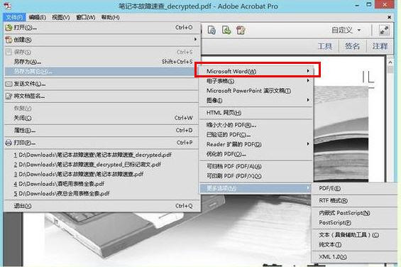 扫描版pdf,以及由图片直接转换成的pdf,用常规软件转换成word文档图片